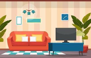 pianta decorativa verde pianta d'appartamento tropicale nell'illustrazione del soggiorno vettore