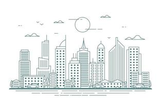 illustrazione dello skyline della città vettore