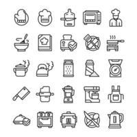 set di icone di cucina vettore