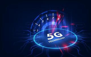 Concetto di vettore di tecnologia wireless di rete 5g. Internet mobile ad alta velocità.