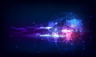 modello astratto del circuito digitale della sfera tecnologica innovare il concetto b vettore