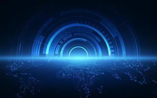concetto di velocità di tecnologia globale astratta. vettore