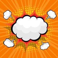 comico astratto, sfondo pop art con nuvoletta vuota vettore