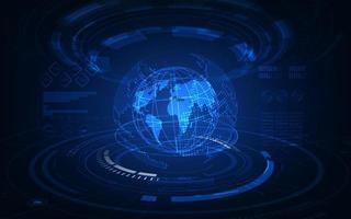 tecnologia di comunicazione per il business di Internet. rete mondiale globale e telecomunicazioni sulla criptovaluta terrestre e blockchain e iot. vettore
