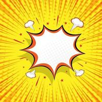 astratto sfondo comico con illustrazione vettoriale vuoto discorso bolla