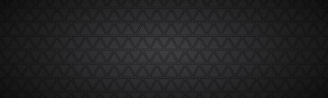 intestazione astratta nera con rettangoli. banner widescreen vettoriale moderno. semplice illustrazione di trama