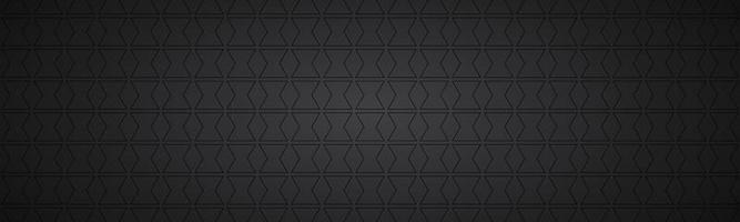 intestazione astratta nera. banner widescreen vettoriale moderno. semplice illustrazione di trama
