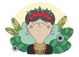 vettore di frida kahlo