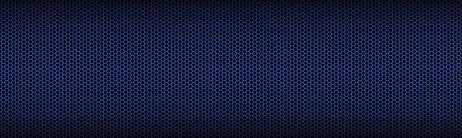 intestazione geometrica blu con griglia poligonale. bandiera esagonale metallica rossa astratta. illustrazione vettoriale