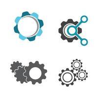 set di immagini del logo dell'ingranaggio vettore
