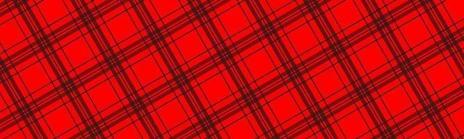 intestazione motivo a scacchi diagonali neri e rossi. semplice banner astratto retrò. illustrazione vettoriale