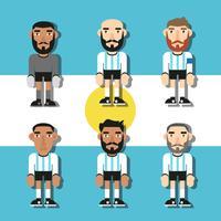 Vettore piano dei giocatori di calcio dell'Argentina