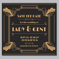 Elegante Save The Date Card Vector