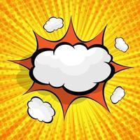 astratto sfondo comico con nuvoletta vuota vettore