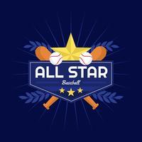 Distintivo di baseball All Star Vector
