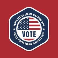 Distintivo dell'emblema delle elezioni USA vettore
