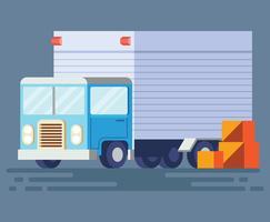 Illustrazione di camion in movimento vettore