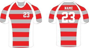 mock up di magliette da rugby vettore