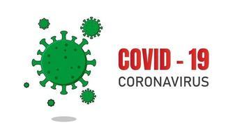 illustrazione di progettazione della bandiera del virus corona vettore