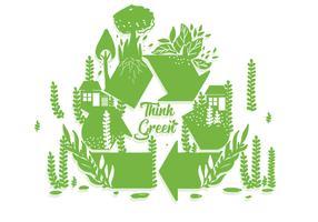 Pensare verde Poster vettoriale
