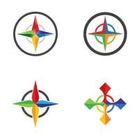 set di immagini del logo della bussola vettore
