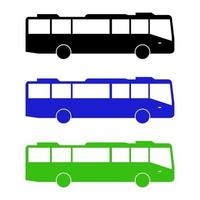 set di autobus urbani su sfondo bianco vettore