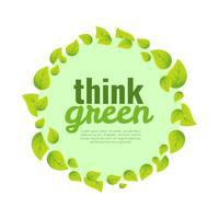 Pensa a sfondo verde Poster vettore