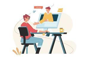 apprendimento online e istruzione domiciliare vettore