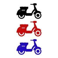 set di scooter su sfondo bianco vettore