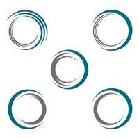 cerchio logo design set vettore