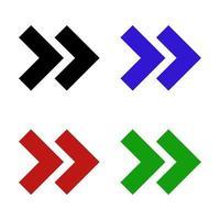 set di freccia su sfondo bianco vettore