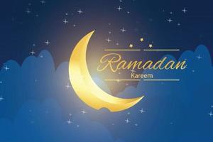 design illustrazione per celebrare il mese del ramadan vettore
