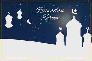 disegno di illustrazione per celebrare il mese del ramadan 2021 vettore
