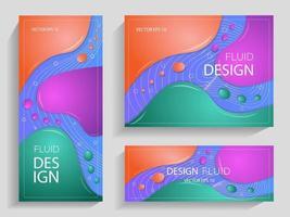 opuscoli di design liquido vettore