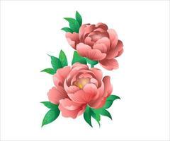 set floreale con rose, cactus, verde, erbe e rami di eucaluptys vettore