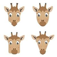 set di giraffe dei cartoni animati. vettore