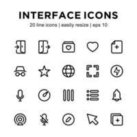 modello di icona dell'interfaccia vettore