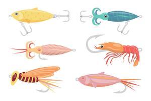 raccolta di vettore del pescatore a mosca