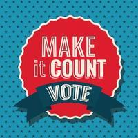 fallo contare timbro sigillo e vota disegno vettoriale nastro