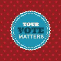 il tuo voto è importante per il disegno vettoriale del timbro di tenuta