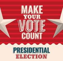 fai contare il tuo voto con il disegno vettoriale di stelle