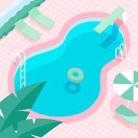 Vettore d'annata della piscina