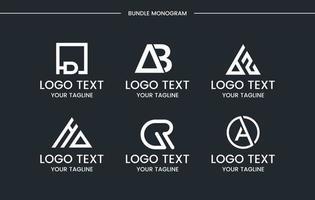 modello di progettazione logo set monogramma. vettore