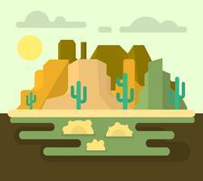 Paesaggio del deserto occidentale vettore