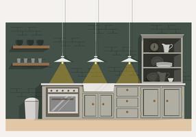 illustrazione vettoriale di cucina moderna