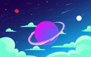 Illustrazione di spazio astratto vettoriale