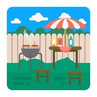 Grill del cortile