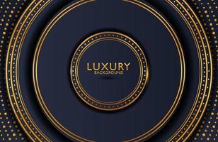 sfondo elegante di lusso con elemento in oro su superficie scura. layout di presentazione aziendale vettore