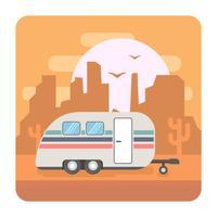 Illustrazione di campeggio vettore
