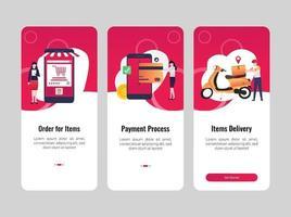 illustrazione di e-commerce adatta alle esigenze di progettazione di app. vettore